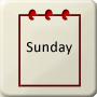 Day of week - Sunday